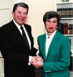 President Ronald Reagan with Peggy Soule