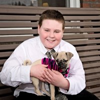 Heart Gallery 2017 - Boy with puppy